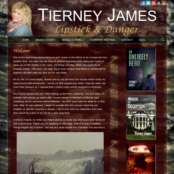 Tierney James. Author