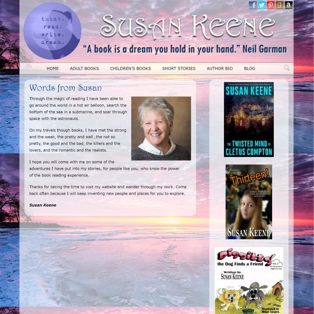 Susan Keene, Author